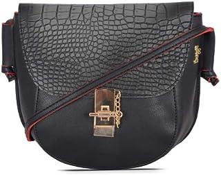 Baggit Women's Handbag (Black-Red) (Unitsnits 1)