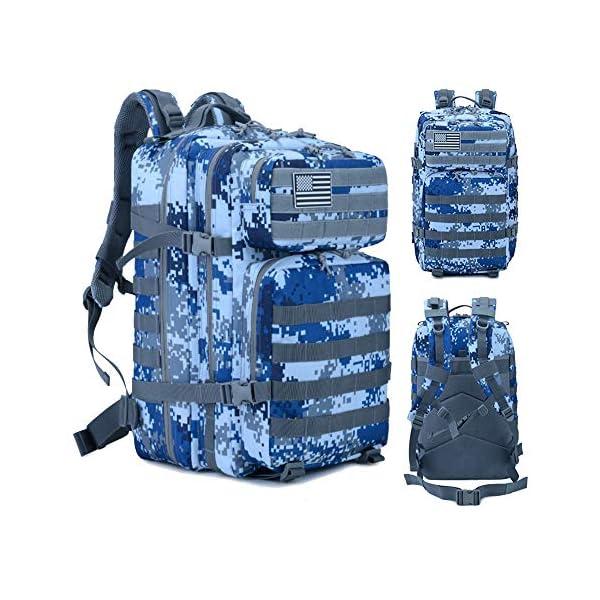 51xKCbxNaCL. SS600  - Mochila Táctica Militar Impermeable de 45L para Marcha, Excursionismo, Montañismo, Senderismo, Camping, Trekking, Caza y…