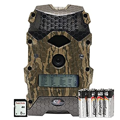 """Wildgame Innovations Mirage 16"""" Trail Camera with Batteries & SD Card, Mossy Oak Bottomland, Ready To Scout Package"""