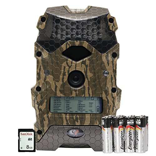 "Wildgame Innovations Mirage 16"" Trail Camera with Batteries & SD Card, Mossy Oak Bottomland, Ready To Scout Package"