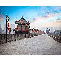 ZXDFG Rompecabezas 1000 Piezas Banderas de Casa de China Carretera Cuadro DIY Decoración de Madera para El Rompecabezas Casero