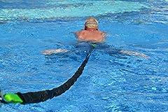 BodyCROSS Zwemtrainer | optimaal zwemmen zonder tegenstroomsysteem | geschikt voor elke pool | Gewatteerde zwemgordel | Aqua-Tube van 1 - 20kg trekkracht | Sport en plezier voor het gezin | Gemaakt in Duitsland*