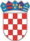 U24 Aufkleber Kroatien Wappen Autoaufkleber Sticker Konturschnitt