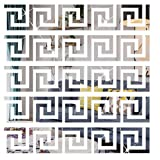 SelfTek 60Pcs DIY Mirror Stickers Removable Adhensive Wall Stickers Decals for Home Art Room Bedroom Background Decoration (Geometric Greek Key Pattern)