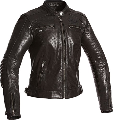 Segura Motorradjacke mit Protektoren Motorrad Jacke Iron Damen Lederjacke schwarz 44, Chopper/Cruiser, Ganzjährig