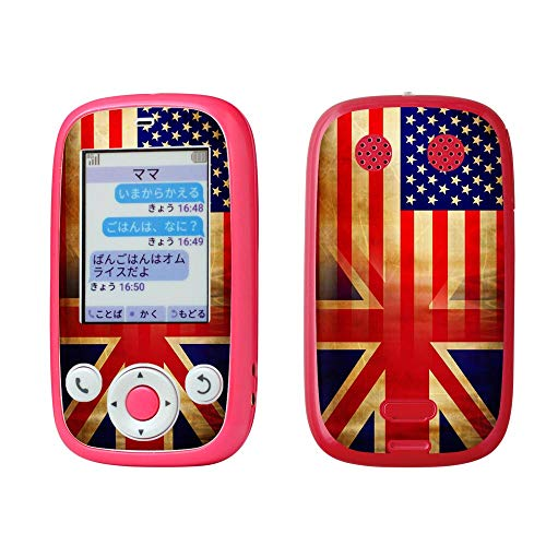 igsticker みまもりケータイ4 Softbank 601SI 専用スキンシール フィルム シール ステッカー 012669 アメリカ イギリス アンティーク