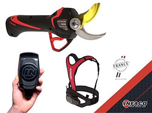 Infaco: tijeras eléctricas/electrónicas con pilas Electrocoup F3015de corte medio hasta a 45mm, tijeras de podar