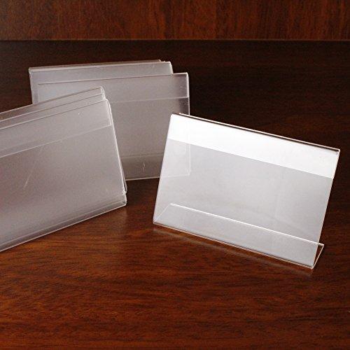 Tabella acrilica del supporto di visualizzazione del segno dell'affissione a cristalli liquidi 20pcs di prezzi bassi 9cmx6cm