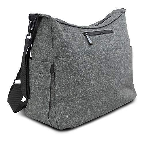 LOMOS Wickeltasche groß und funktional, inkl. Wickelunterlage in Grau
