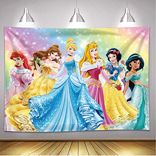 Dost Polyester Princess Personalized Photography Backdrop Princess Theme Girl Dream Party Decoration Backdrop (7x5FT)