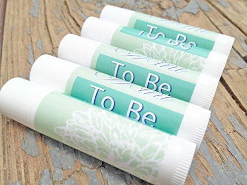 12 Mint To Be Wedding Favor Lip Balms - Lip Balm Wedding Favors - Mint to Be - Bridal Shower Favors (Herbal Mint)