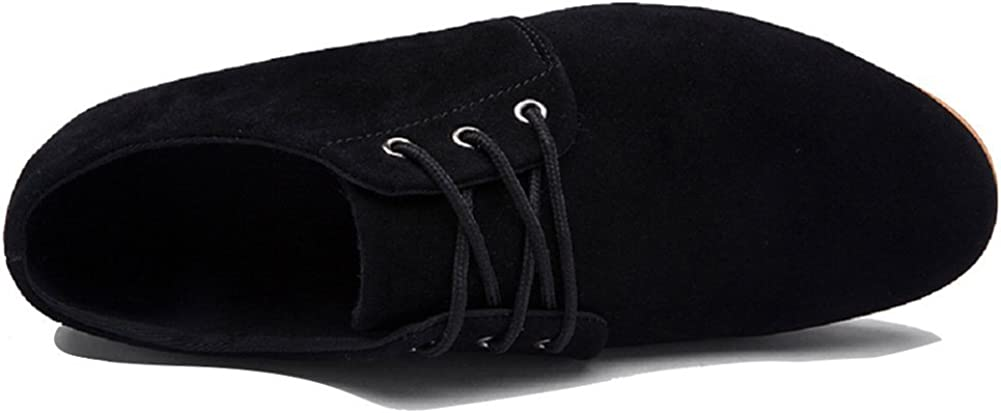 Maybest Men's New Casual Suede Loafers Flat Lace