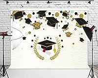 Muzi 卒業写真 背景 おめでとう 卒業パーティー 写真ブースバナー ケーキテーブル 写真背景 W-607