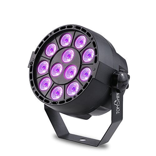 Tomshine Luz Escenario 15W 12 LEDs UV Etapa Par Luz