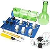 6. Glass Bottle Cutter Upgraded Bottle Cutting Machine forCutting Round, Oval Bottles, Home Craft DIY Glass Cutter Bundle Tools for Cutting Wine, Beer, Whiskey, Champagne - Complete Accessories Tool Kit