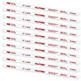 HAUTMEC 12' Hacksaw Blades Replacement Bi-Metal(10 Pack) 32 TPI High Speed Steel Grounded Teeth HT0018-CT