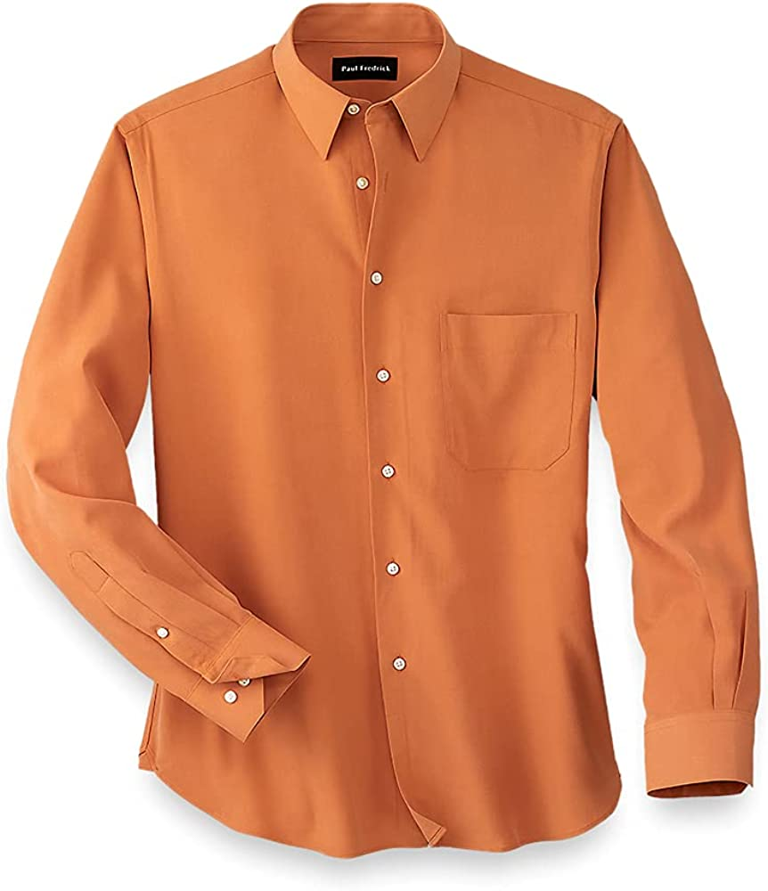 Paul Fredrick Men's Silk Solid Casual Shirt