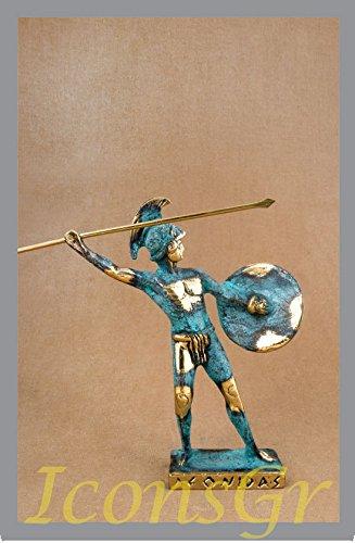 Griego antiguo Bronce Museo Estatua réplica de leónidas rey de Esparta (149)