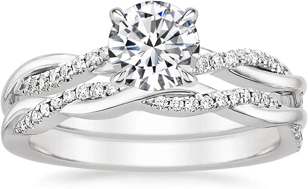 Yafeeso Bridal Sets Moissanite Wedding Rare Engagement for Ring Super-cheap