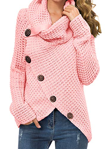 Material: 100% Acrylic.soft and comfy. US SIZE:Small=(US 4-6),Mediun=(US 8-10),Large=(US 12-14),X-Large=(US 16-18) Features : chunky pullover knit sweater, and the autumn and winter seasons are very comfortable and warm;casual style, turtle cowl neck...