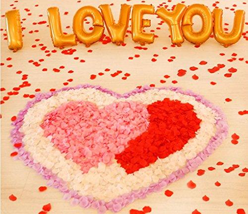 Jasmine 1000 PCS Non-Woven Wedding Petals Rose Petals for Flower Girl Bridal Shower Hotel Home Flower Decoration(Ivory)