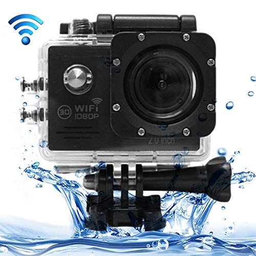 Cámara Deportes SJ7000 Full HD 1080P Pantalla LCD de 2.0 pulgadas Novatek 96655 Cámara de videocámara deportiva WiFi con estuche impermeable, lente gran angular de 170 grados HD, 30 m a prueba de agua