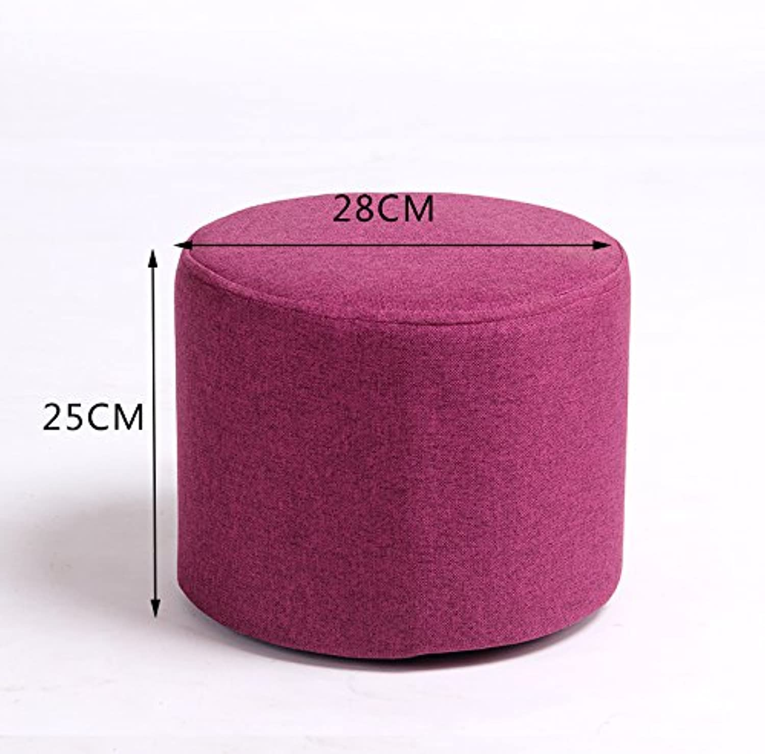 Dana Carrie Stool Stylish Ideas for shoes of Solid Wood Cloth Sofas stools Low stool Round stool wear shoes The Tea Small stools Benches sit Mounds of Deep purple 25  28cm