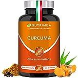 CURCUMA NUTRIMEA   Curcuma Piperina Plus Olio Extra Vergine Oliva Biologico   95% Estratto Curcumina Piperina   350 mg Curcumina Pura 7 mg   Pepe Nero