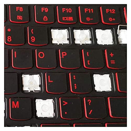 F-Mingnian-rsg Teclas 1pc Teclas de Repuesto Tapa de tecla y Clip de Tijera y bisagra para 15 14 R720 Y7000 Y50 Y40 Y520 Y7000P Y50P-70 Y720 R720-15IKB Teclado (Colores: 1 Tapa de tecla y bisagra)