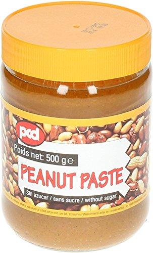 [ 6x 500g ] pcd Erdnusspaste OHNE ZUCKERZUSATZ / Peanut Paste without added sugar
