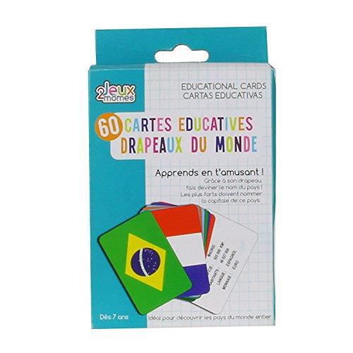Jeux 2 Momes-CMEA5032 Carte Educative Pays Et Drapeaux, EA5032