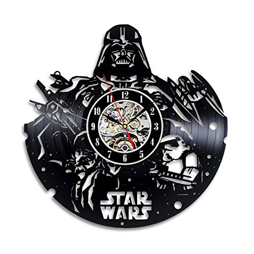 Star Wars Collectables Vinyl Record Wall Clock - Decorate your home with Modern Large Darth Vader, Stormtrooper and Yoda Art - Best gift for friend, man and boy - Win a prize for feedback