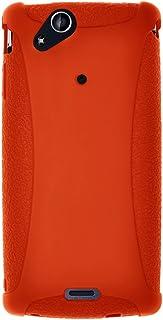 Amzer AMZ91357 Silicone Skin Jelly Case for Sony Ericsson Xperia ARC, 1 Pack, Orange