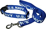 Blue US Navy Seal Emblem Dog Collar and Leash (Licensed by US Navy)