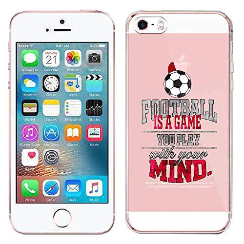 GlamCase - Carcasa para iPhone 5 y 5S, diseño de fútbol