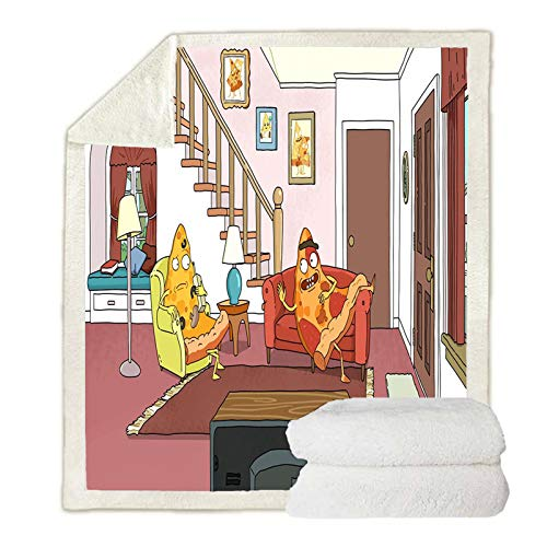 AMYZS-KK - Manta de impresión 3D Rick and Morty, de fibra de microfibra, para sofá, viaje, camping, siesta, niños, para adulto, (A03,130 x 150 cm)