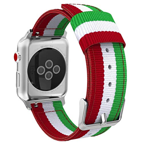 CHERRYY para Apple Watch 6 bandas 38mm 42mm 40mm 44mm Correa de nailon transpirable suave y ligera para IWatch Series 5 4 3 2 1 pulsera de muñeca