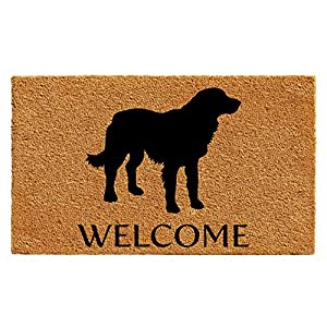 "Calloway Mills AZ105522436 Golden Retriever Doormat, 24"" x 36"", Natural/Black"