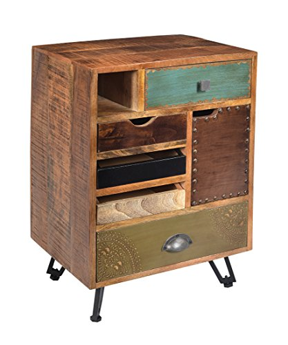 Coast To Coast Imports 5-Drawer End Table in Multicolor Finish
