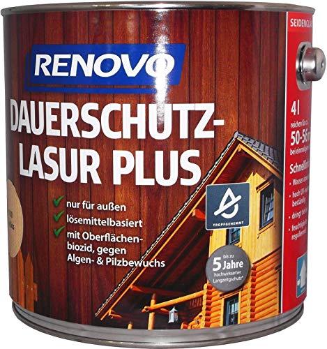 Renovo Dauerschutzlasur palisander 0,75 Liter Farben Lasur Holzschutz (15,99 Euro/Liter)