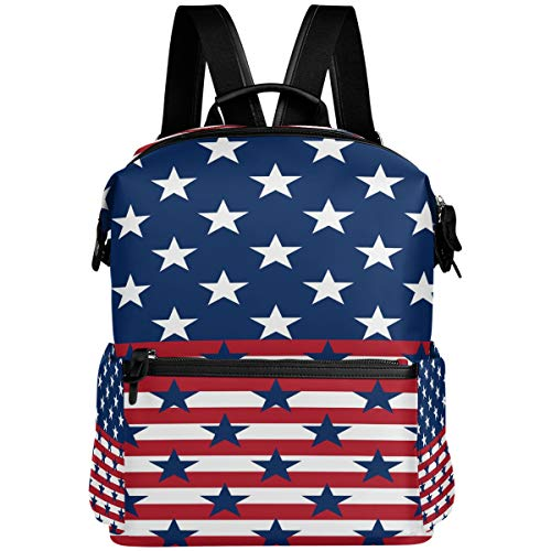 Oarencol - Mochila patriótica de rayas americanas de julio 4 de julio