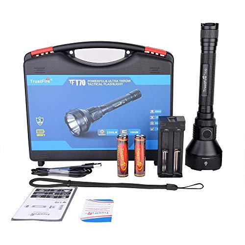 Linterna TrustFire T70 de 2300 lúmenes con LED CREE XHP-35HI, IPX8, 255g,...