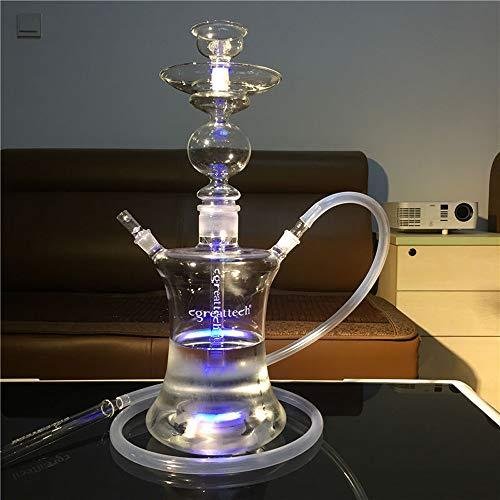 CJCJ-LOVE Shisha, Große Arabisch Glass Hookah ganz Reihe von LED-Huka