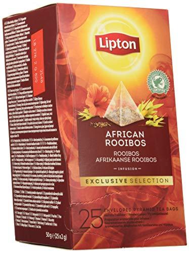 Lipton Selección Exclusiva Infusión African Rooibos, Caja Con 6x25 Pirámides