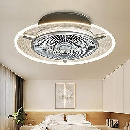 Ventilateur de plafond à LED - Invisible - Pour chambre à coucher, restaurant, salon - Minimaliste moderne - Avec ventilateur télécommandé - Intensité variable