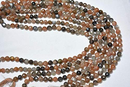 Beads Gemstone Multi Moonstone Beads, Faceted Round Beads, Multi Color Moonstone Round Beads, Gemstone For Jewelry 8mm, 7 Inches Strand Code-HIGH-30541