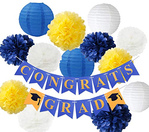 blue and yellow graduation decorations 2020