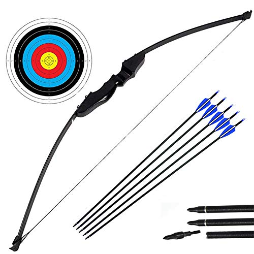 Archery Takedown Recurve Bow and Arrow Set Hunting Long Bow Kit for Outdoor...