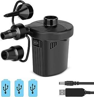 Linkax Bomba de Aire Eléctrica,Inflador Bateria Recargable de llenado Rápido para Inflar/Desinflar,Hinchador Electrico para Colchón Hinchable, Piscinas, Barcos, Juguetes Hinchable o Camping