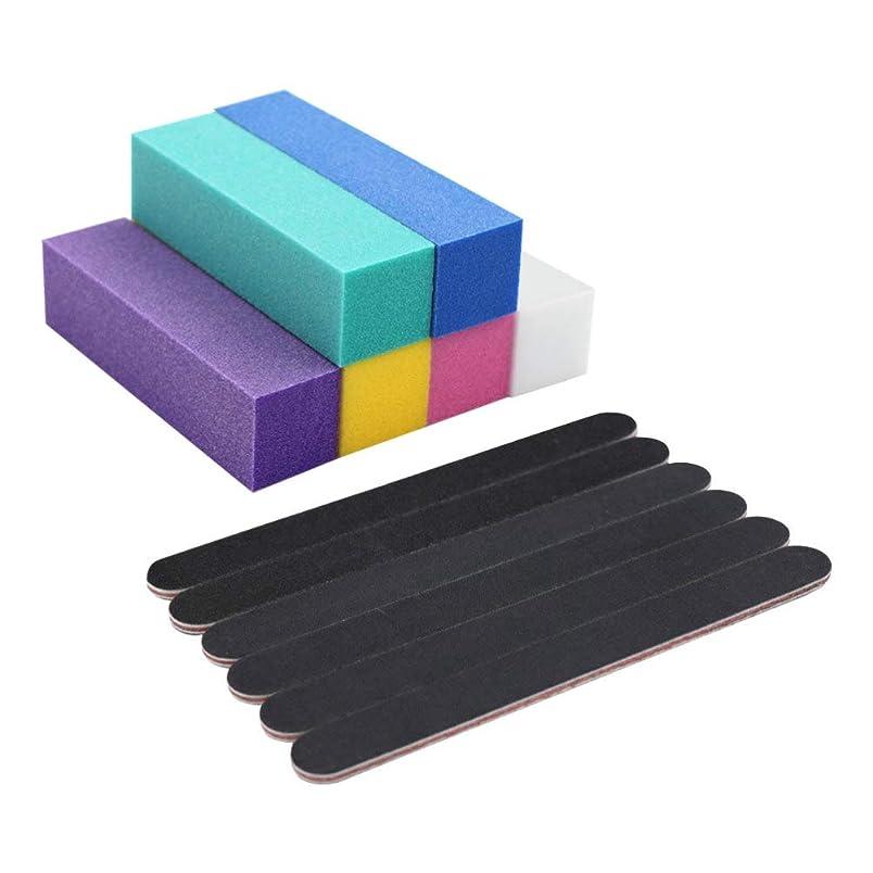 スキャンダラス不愉快に事業Lurrose ネイルバッファーブロックホワイトサンディングブロックファイルネイルポリッシャーマニキュアツール